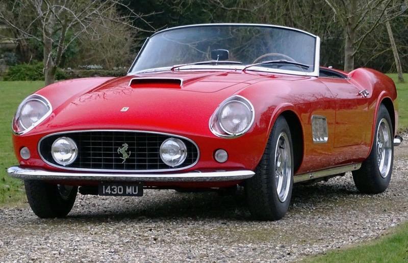 1958 Ferrari PF coupe rebodied as a California Spider   H&H Classics photos