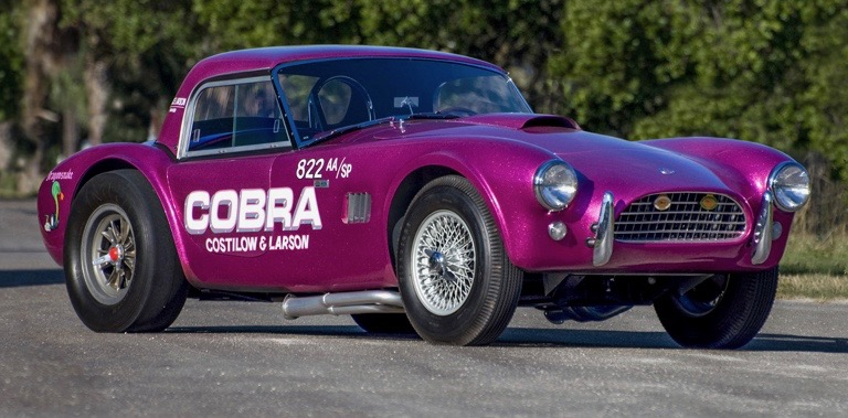 This 1963 Shelby 289 Cobra 'Dragonsnake' was independently built but is officially recognized | Worldwide Auctioneers photos