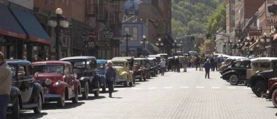 When the tour comes to town, in this case a stop in Deadwood, South Dakota | Glidden Tour photos
