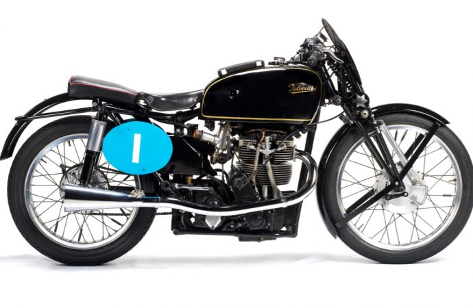Rare Velocette, White Shadow featured at Bonhams bike auction