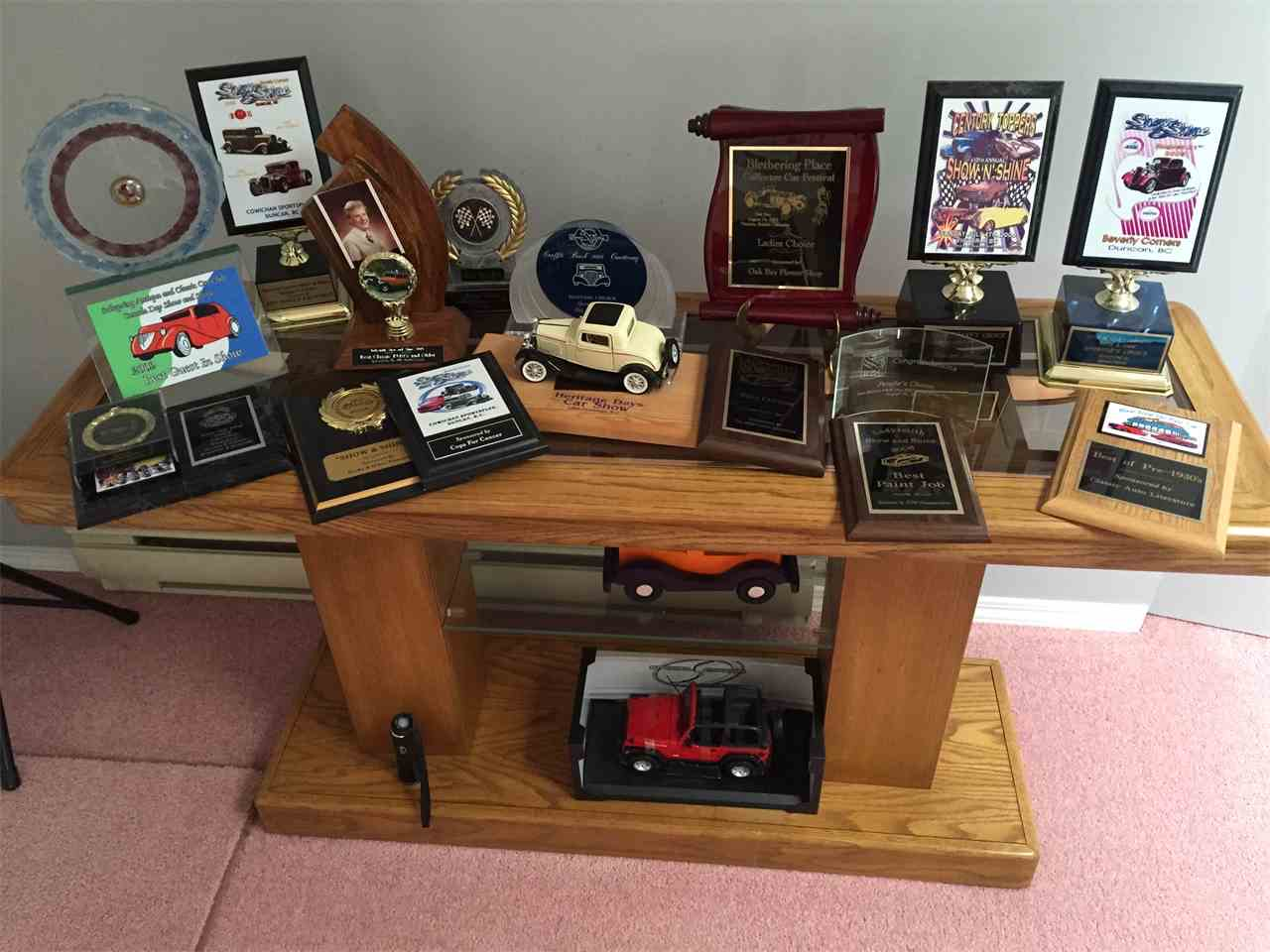 Just a few of the car's awards