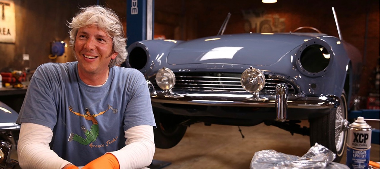 Edd China and one of his projects | Discovery Channel photos