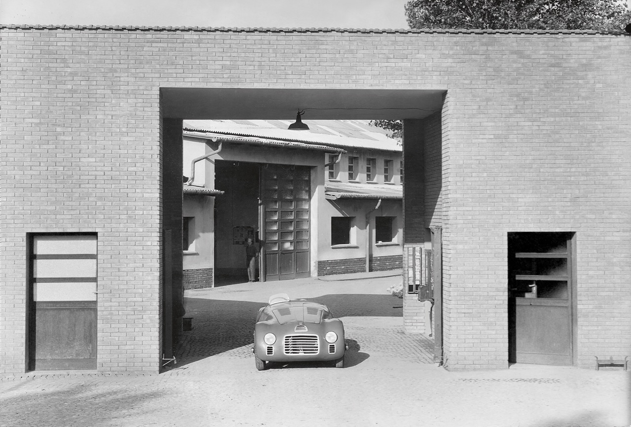 The first Ferrari, the 125 S, leaves the factory complex 70 years ago | Ferrari photos