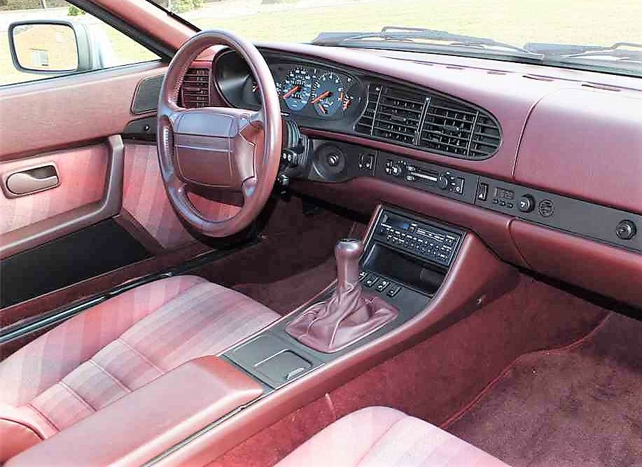 The maroon interior is very 1980s but looks to be in fine shape