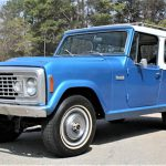 The Jeep Commando has remained in stock condition, down to its factory wheels and hubcaps