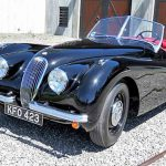 The Jaguar XK 120 was owned and driven by John Lesseter who co-wrote and directed the animated film 'Cars'