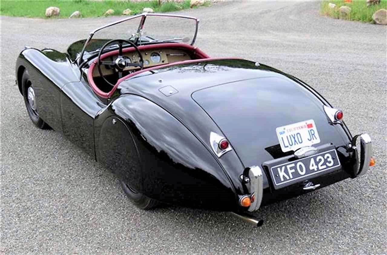 The Jaguar received a frame-off restoration in England