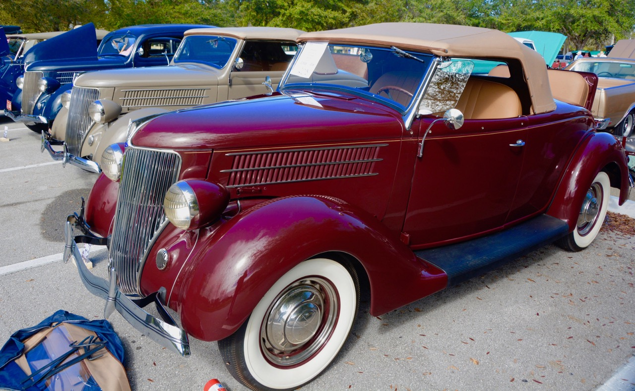 A complete rack of 1936 Fords in most but not all body styles | Jim McCraw photos