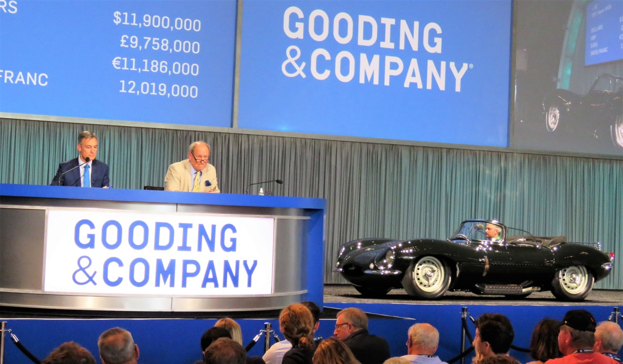 1957 Jaguar XKSS stalls at $11.9 million at Gooding & Company auction | Bob Golfen photos