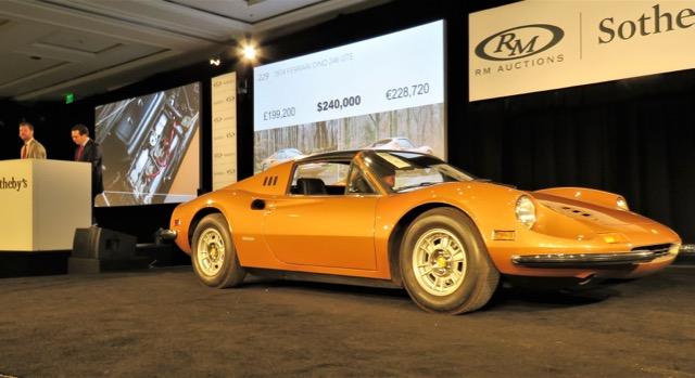 Bid hits $240,000 for 1974 Ferrari Dino
