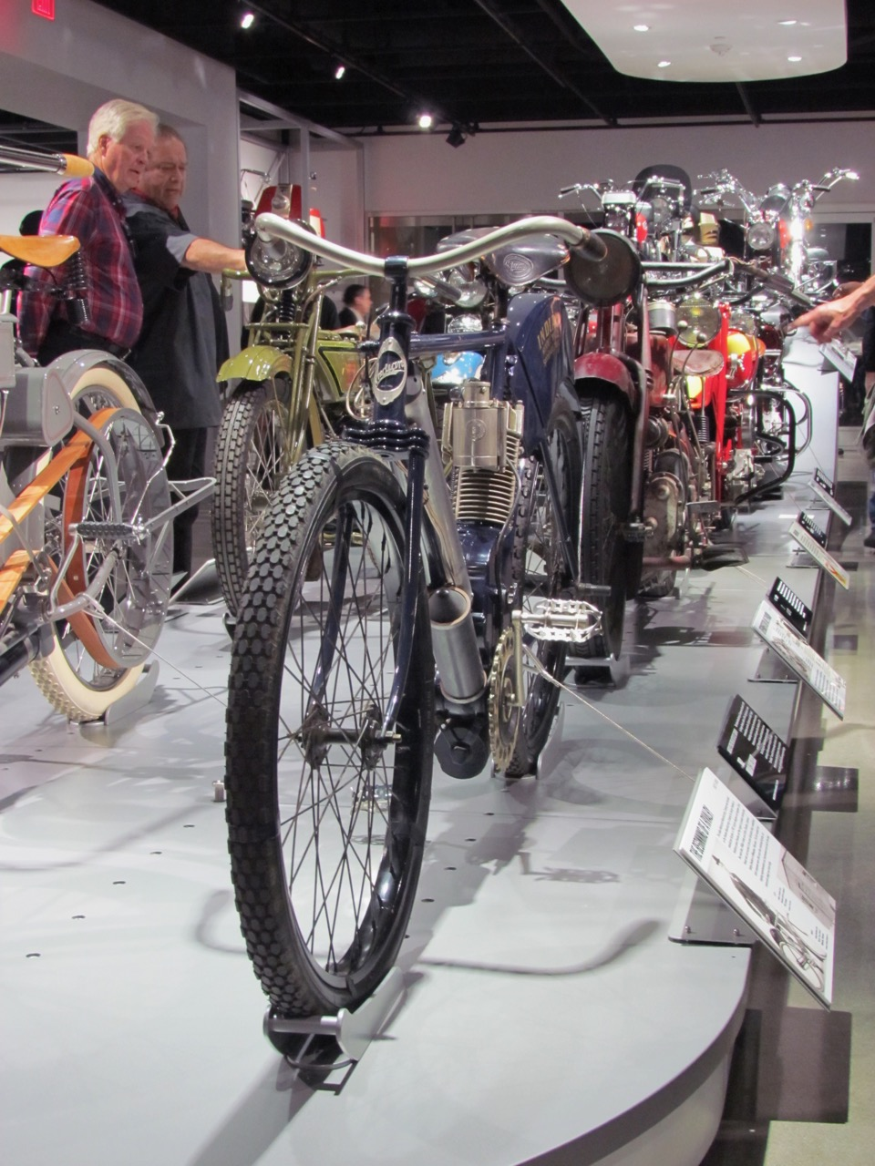 More than two dozen motorcycles are included in the exhibit