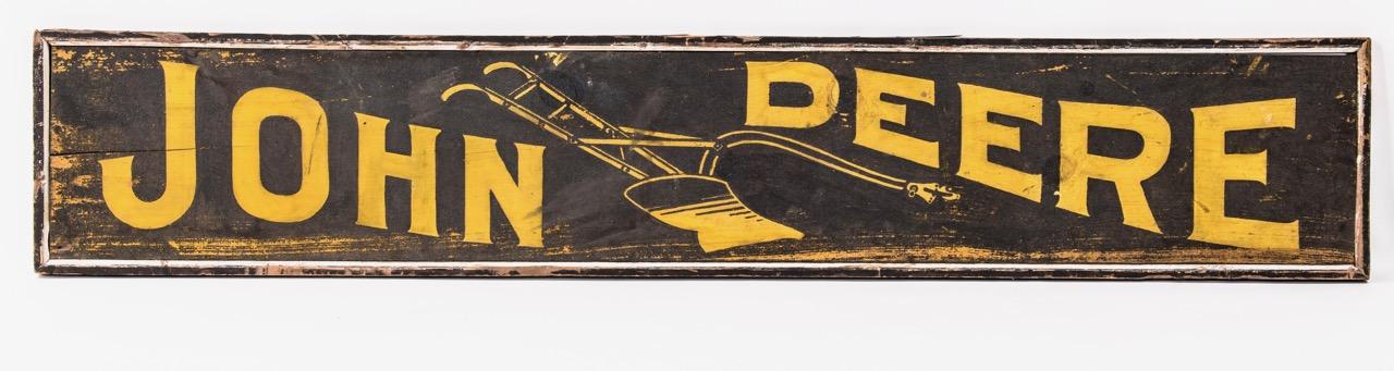 Rare painted John Deere sign
