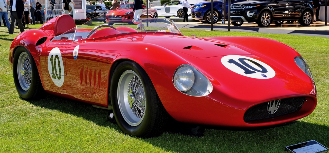 Stirling Moss drove this Maserati to two race victories