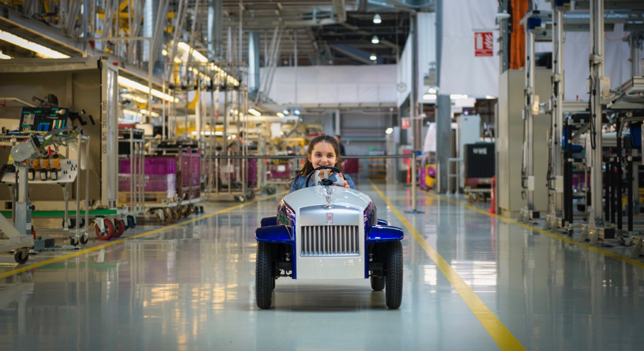 Taking a test drive along the Rolls-Royce assembly line