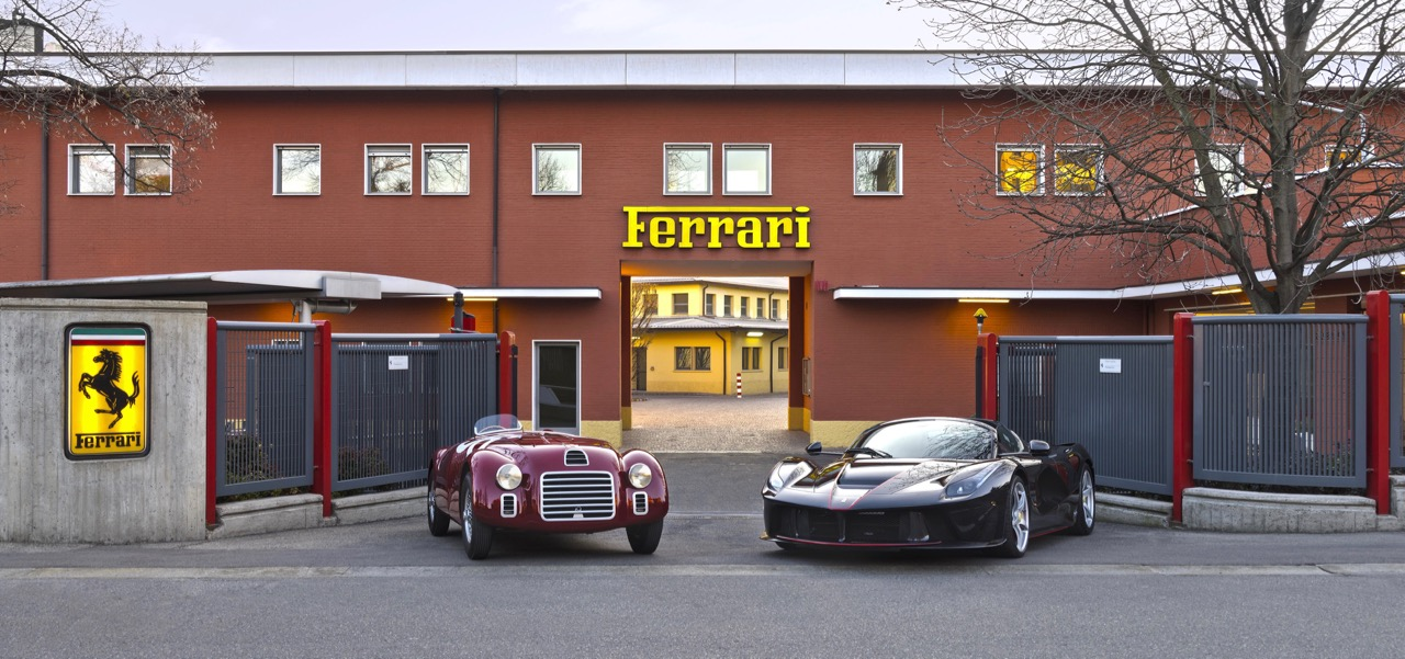 Old and new meet at the former Ferrari works