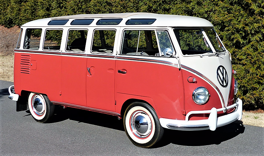 A restored 1961 Volkswagen 23-window microbus should be a crowd favorite