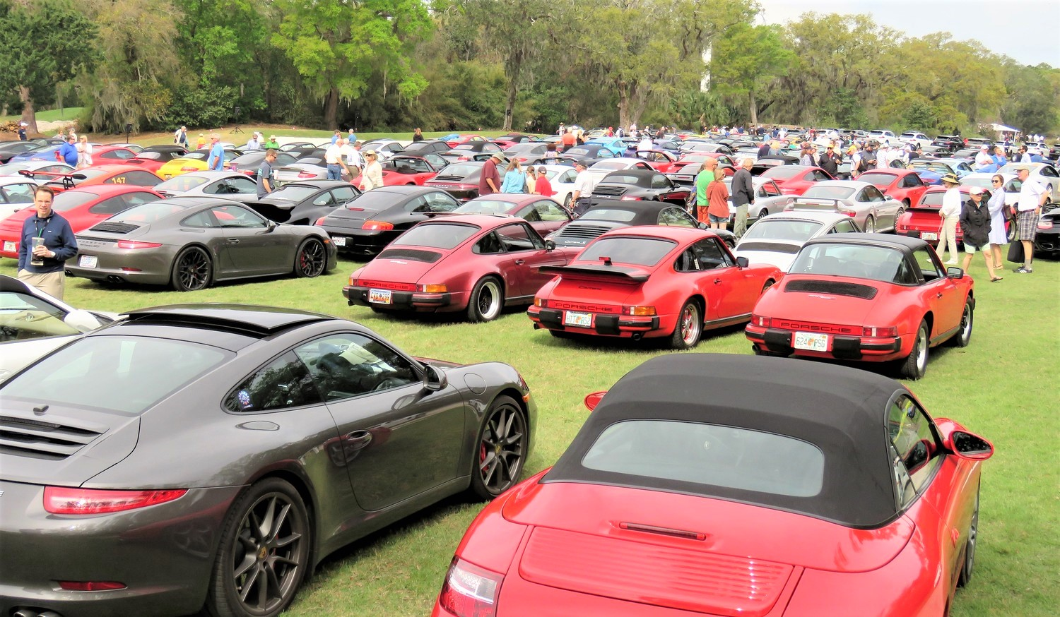 A sea of Porsches greeted fans and spectators to the Werks Reunion | Bob Golfen photos