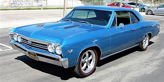 A fully restored 1967 Chevy Chevelle SS is being offered