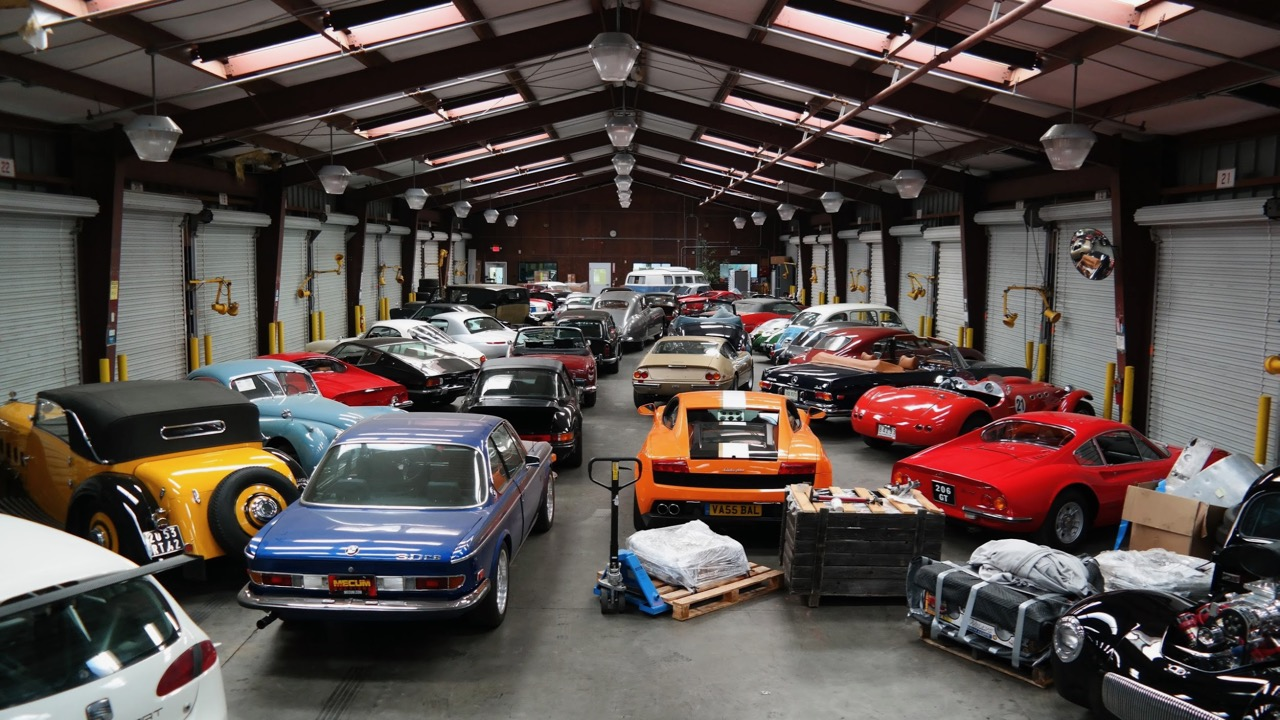 West Coast Shipping's secure storage facility houses cars before boarding ships