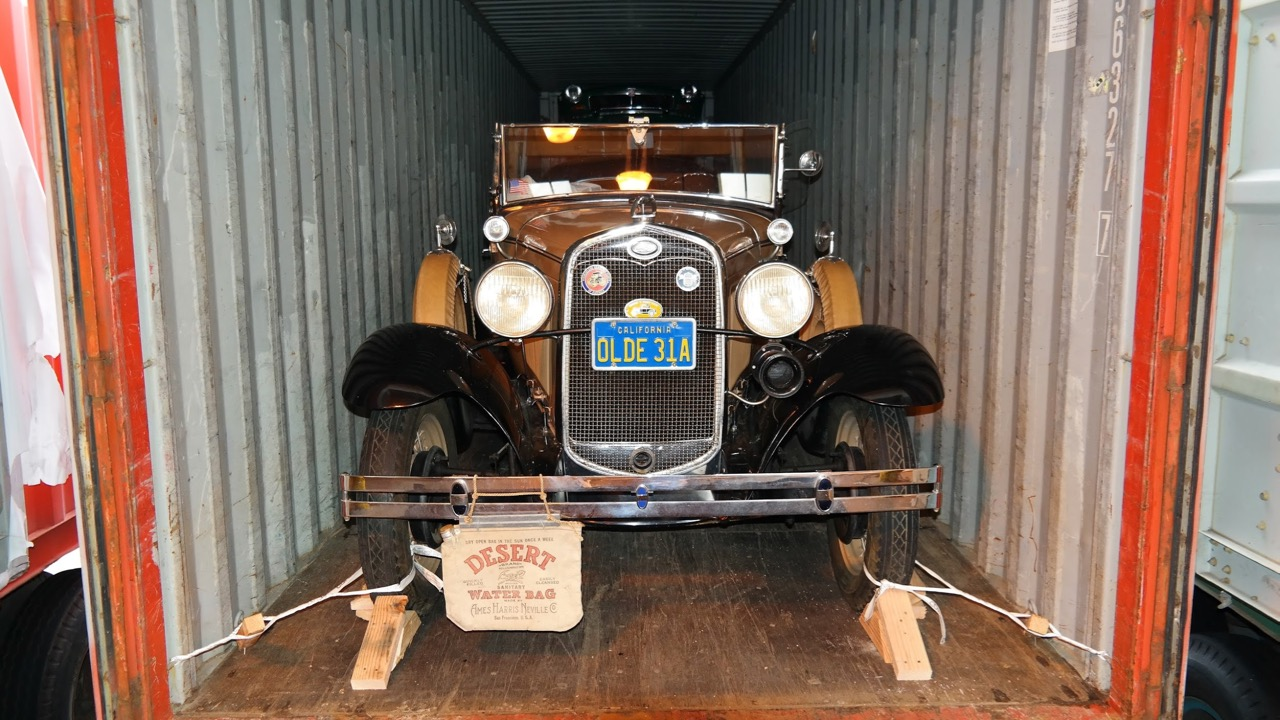 Classic car in a container | West Coast Shipping photo