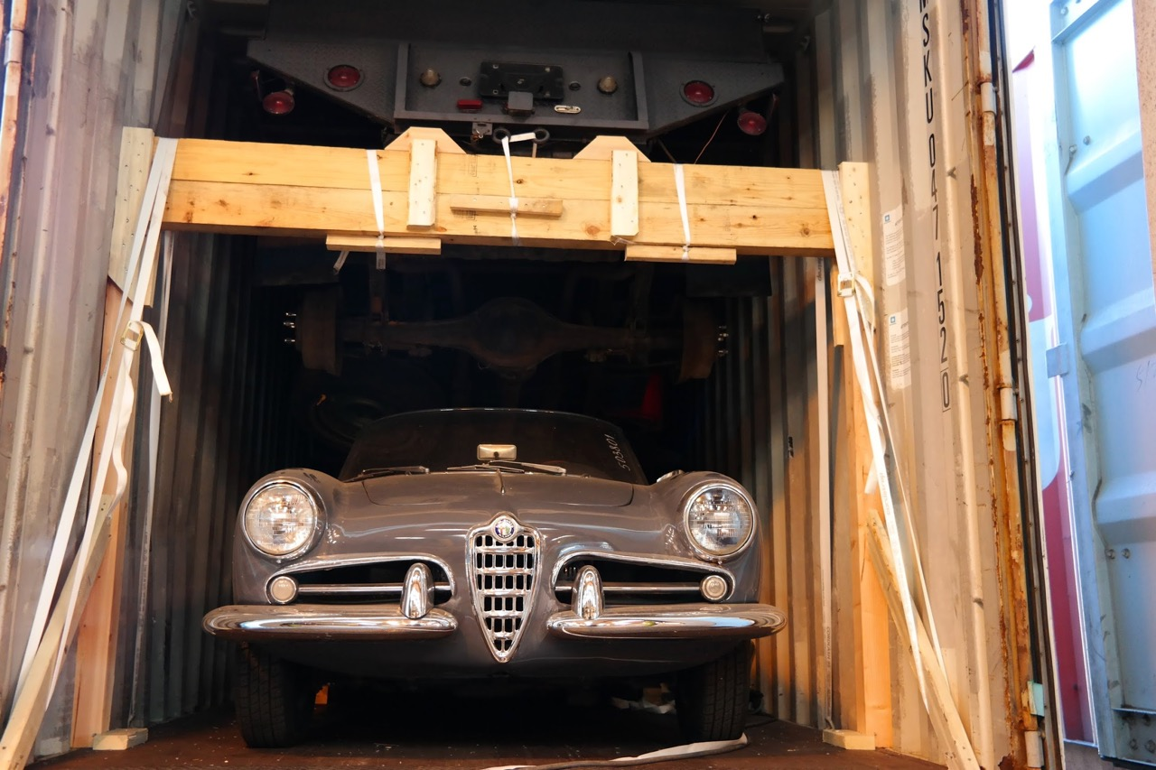 This vintage Alfa Romeo has been secured by West Coast Shipping for transport to its next owner | West Coast Shipping photos