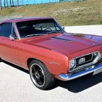 The Plymouth Barracuda has been upgraded with performance components