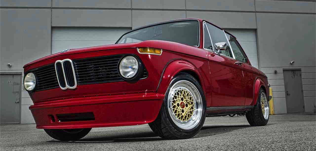 1975 BMW 2002 has undergone a slight resto-mod restoration