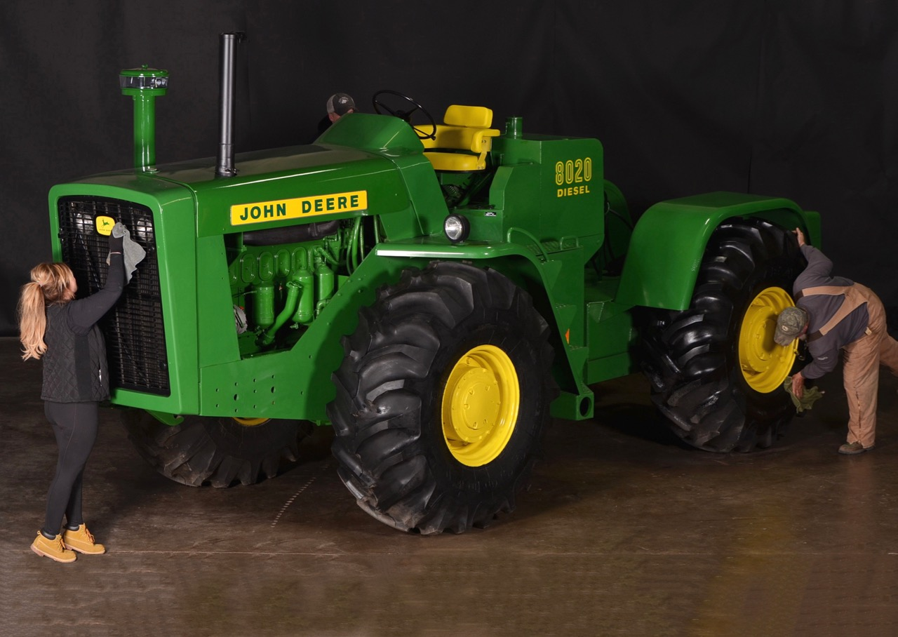 John Deere 8020 is 8-feet tall and just as wide