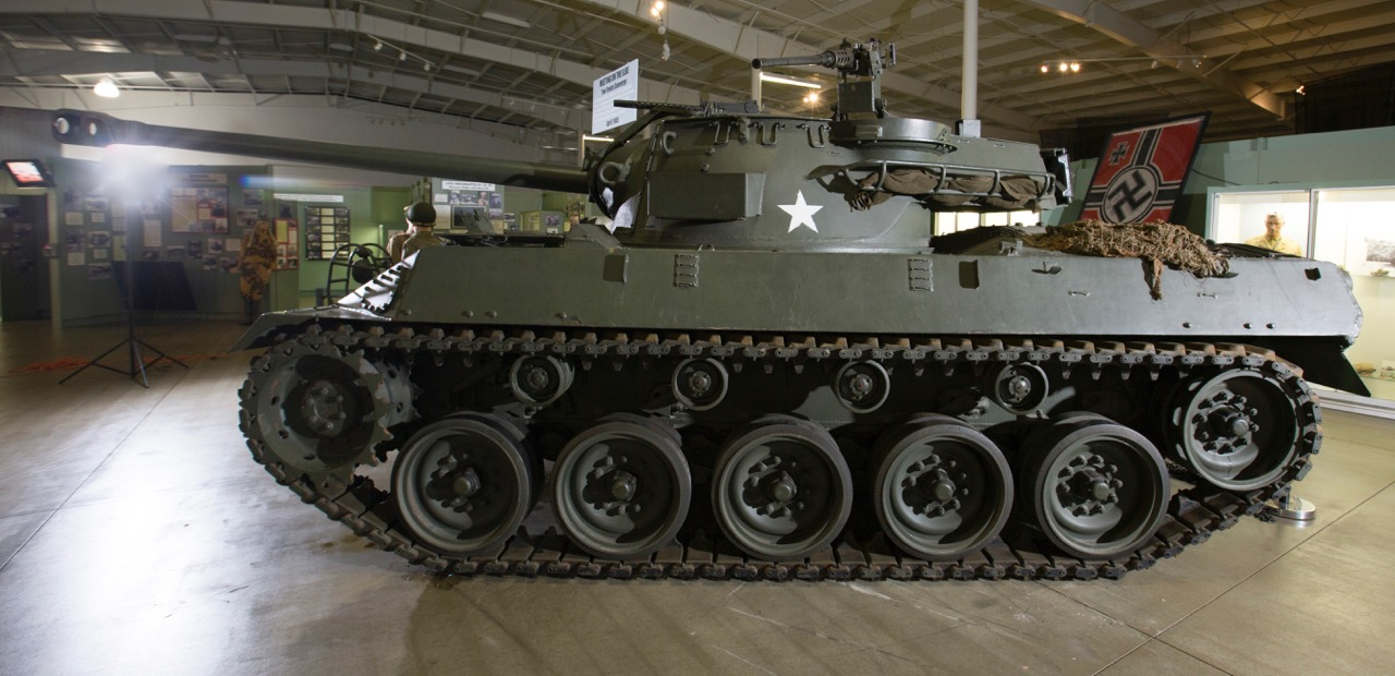 Buick built more than 2,500 of these M18 Hellcats for WW2 effort