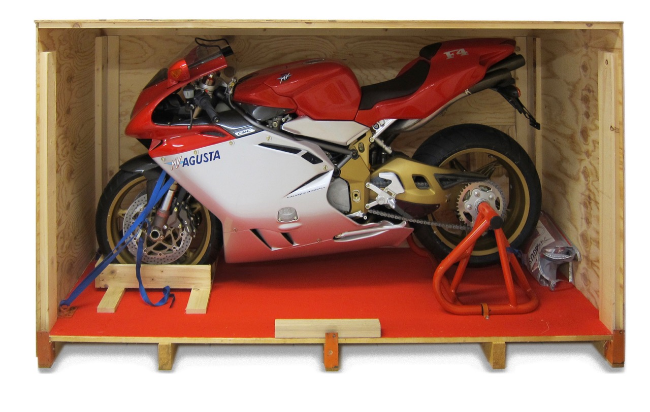 1998 MV Agusta still in its crate