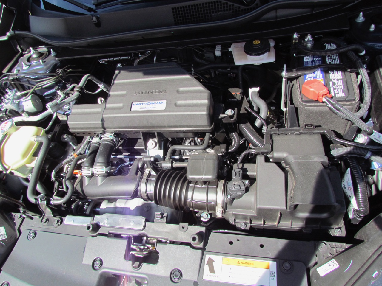 The turbocharged 1.5-liter four-cylinder engine