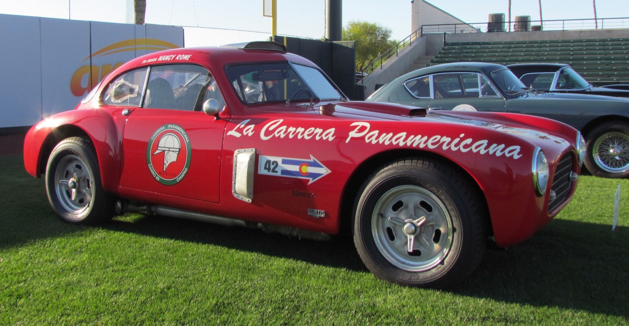 This 1955 Kurtis 500 Swallow coupe may have been Mickey Thompson's intended ride for the Mexican road race