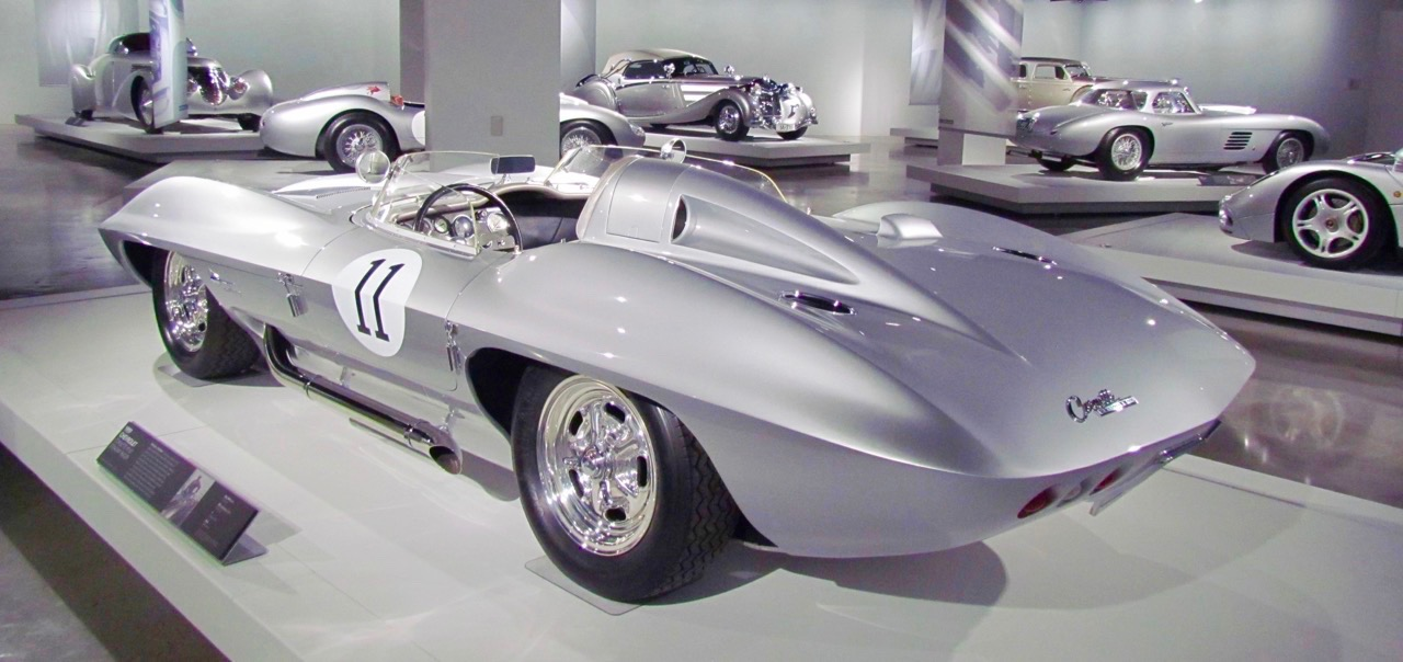 Silver cars were featured when the Meyer gallery opened | Larry Edsall photo