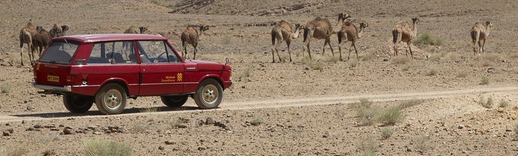 The original Velar on a test run in the African desert
