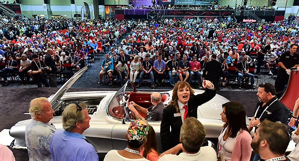 The Palm Beach auction was packed with bidders, sellers and spectators