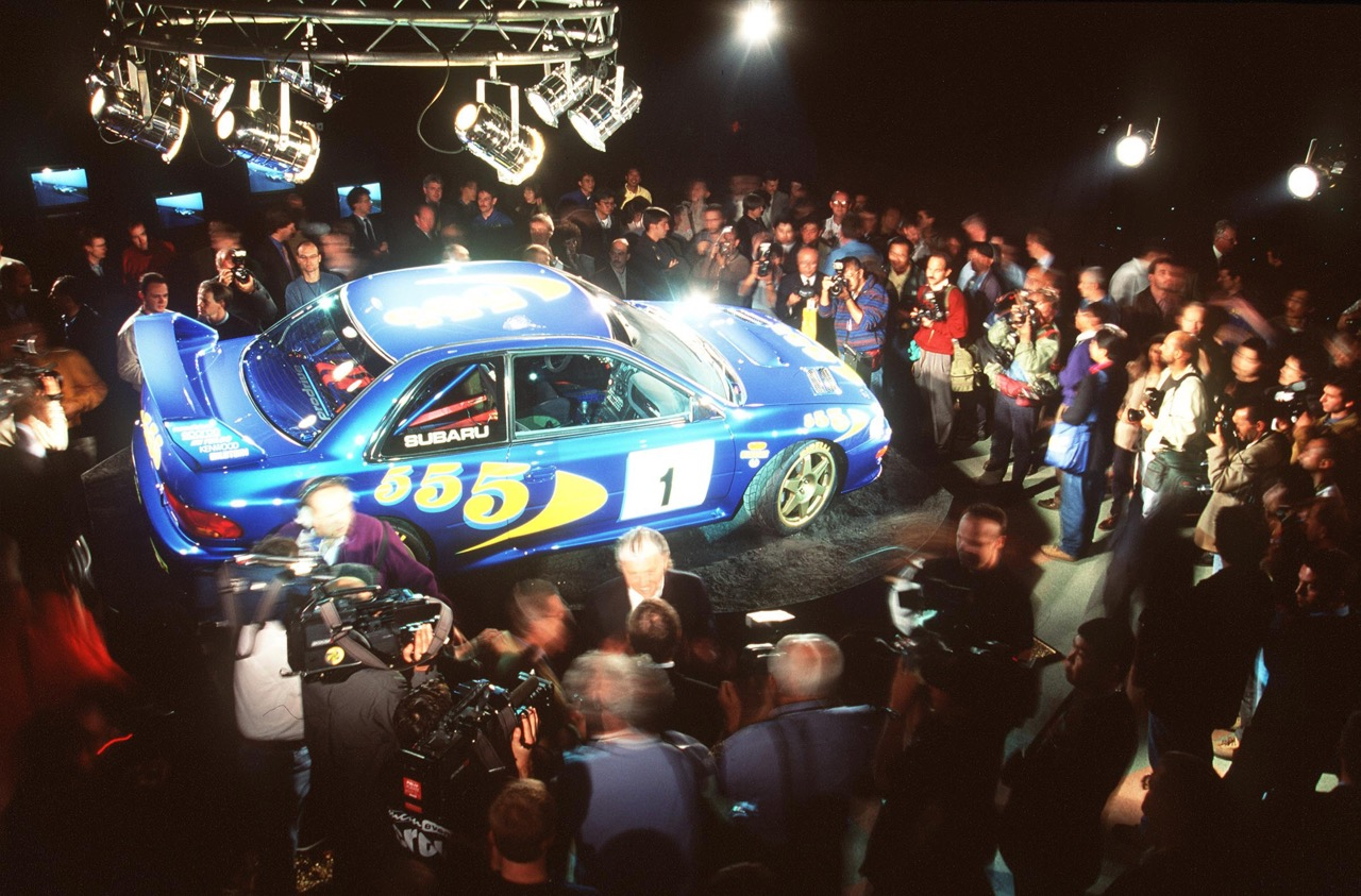 The car at its unveiling in late 1996