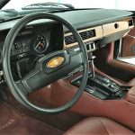 The veddy English luxury interior of the XJS