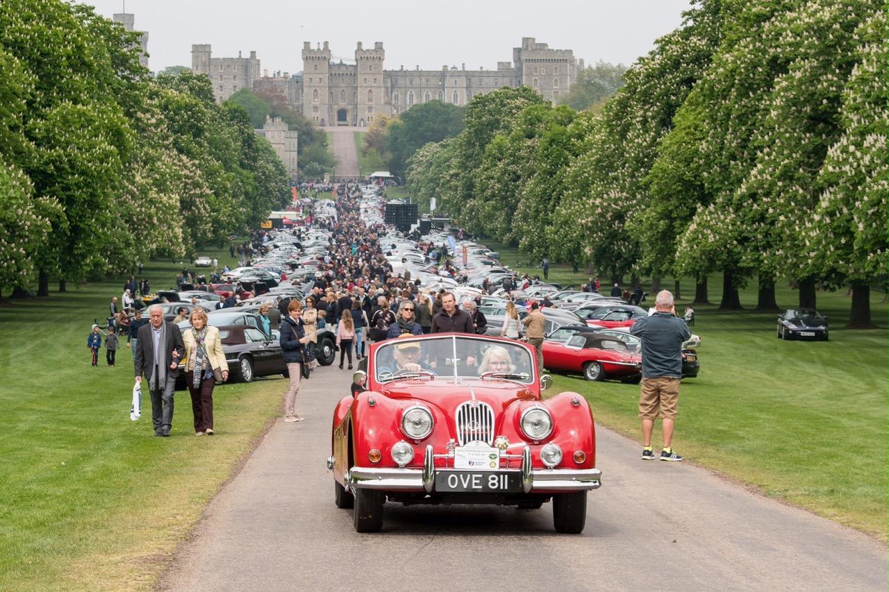 More than 1,200 Jaguars parked along The Long Walk at Windsor Castle | Jaguar Classic photos