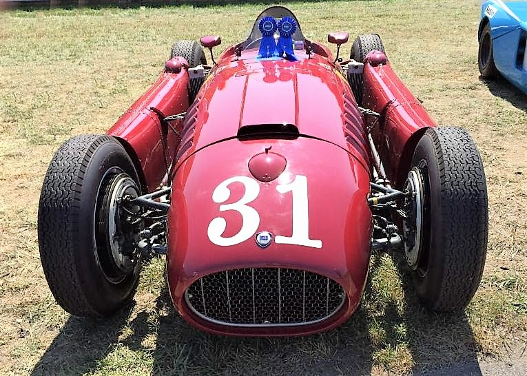 A 1954 Lancia D50Ar is part of the Lime Rock historic racecar group | Greenwich Concours