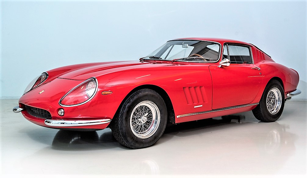 The Ferrari 275 GTB/4 was unveiled in Paris in 1966 | Coys photos