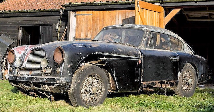 A 'barn-find' 1957 Aston Martin DB2/4 sold for $70,000 despite its rotten condition