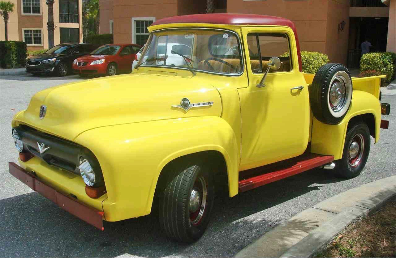 Brightly colored 1956 Ford F-100 is our Pick of the Day