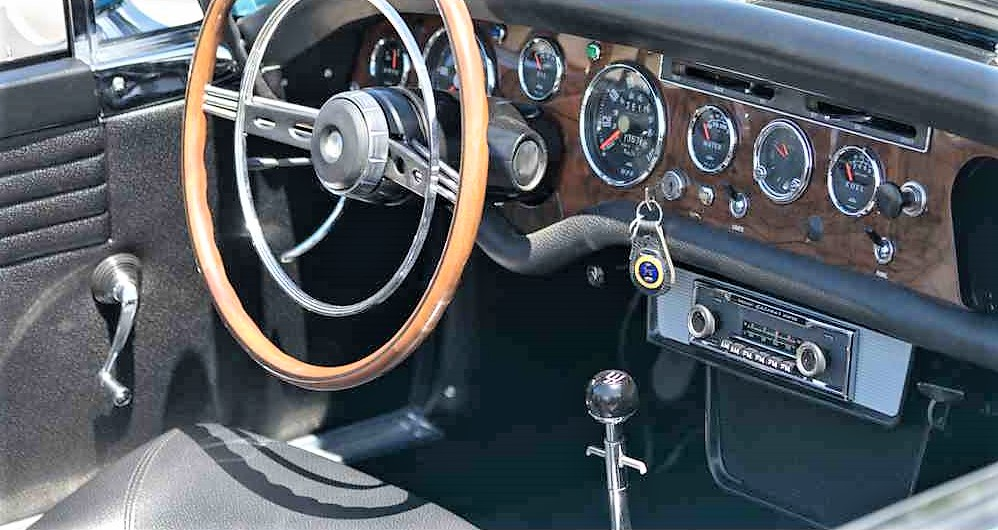 The dashboard and gauges were professionally restored