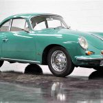 The Porsche is painted in its original factory color of Smyrna Green