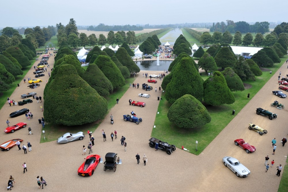 The Concours of Elegance was last help at Hampton Cort Palace in 2014
