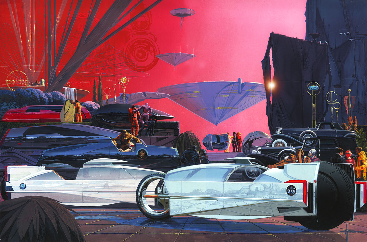 EyesOn Design poster by Syd Mead depicts vehicles in 2047 | EyesOn Design images