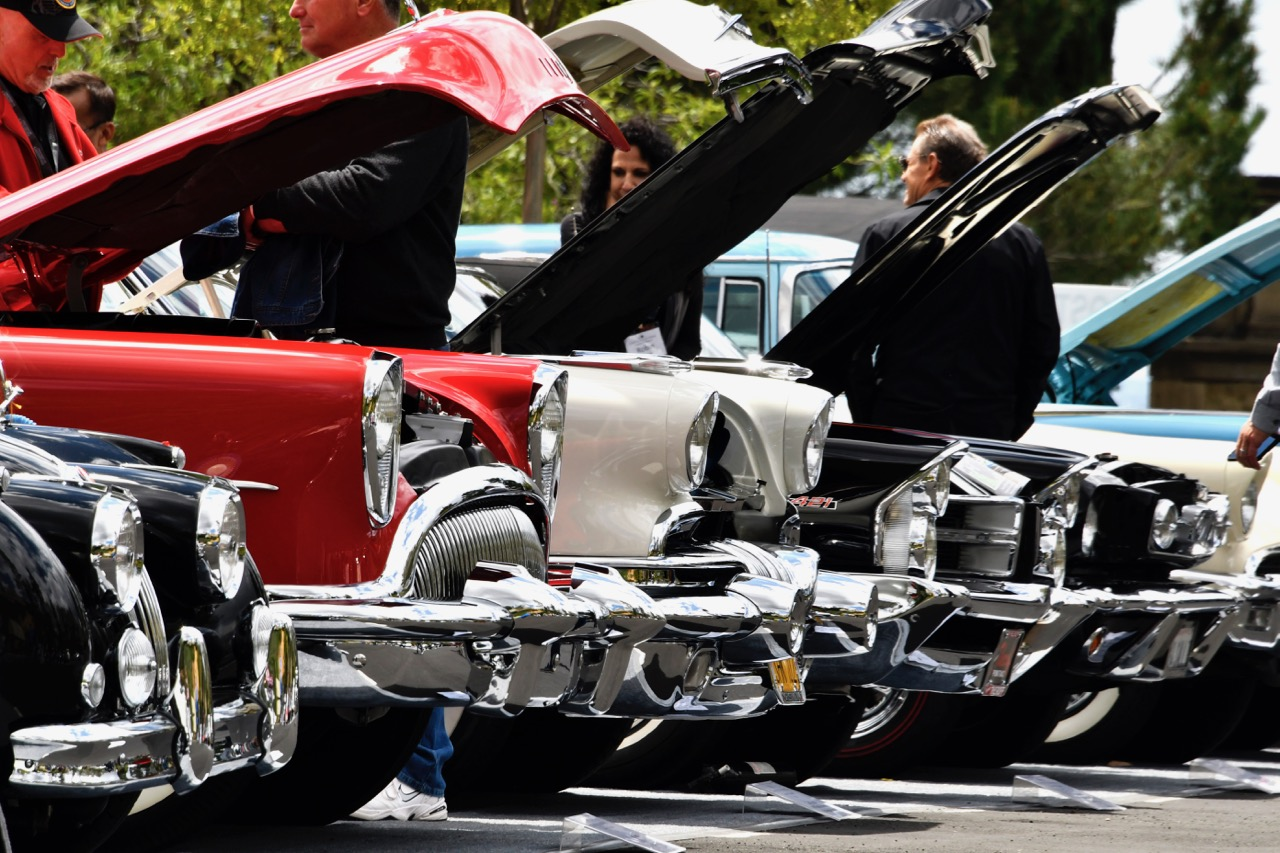 Hoods up on this row of classic beauties
