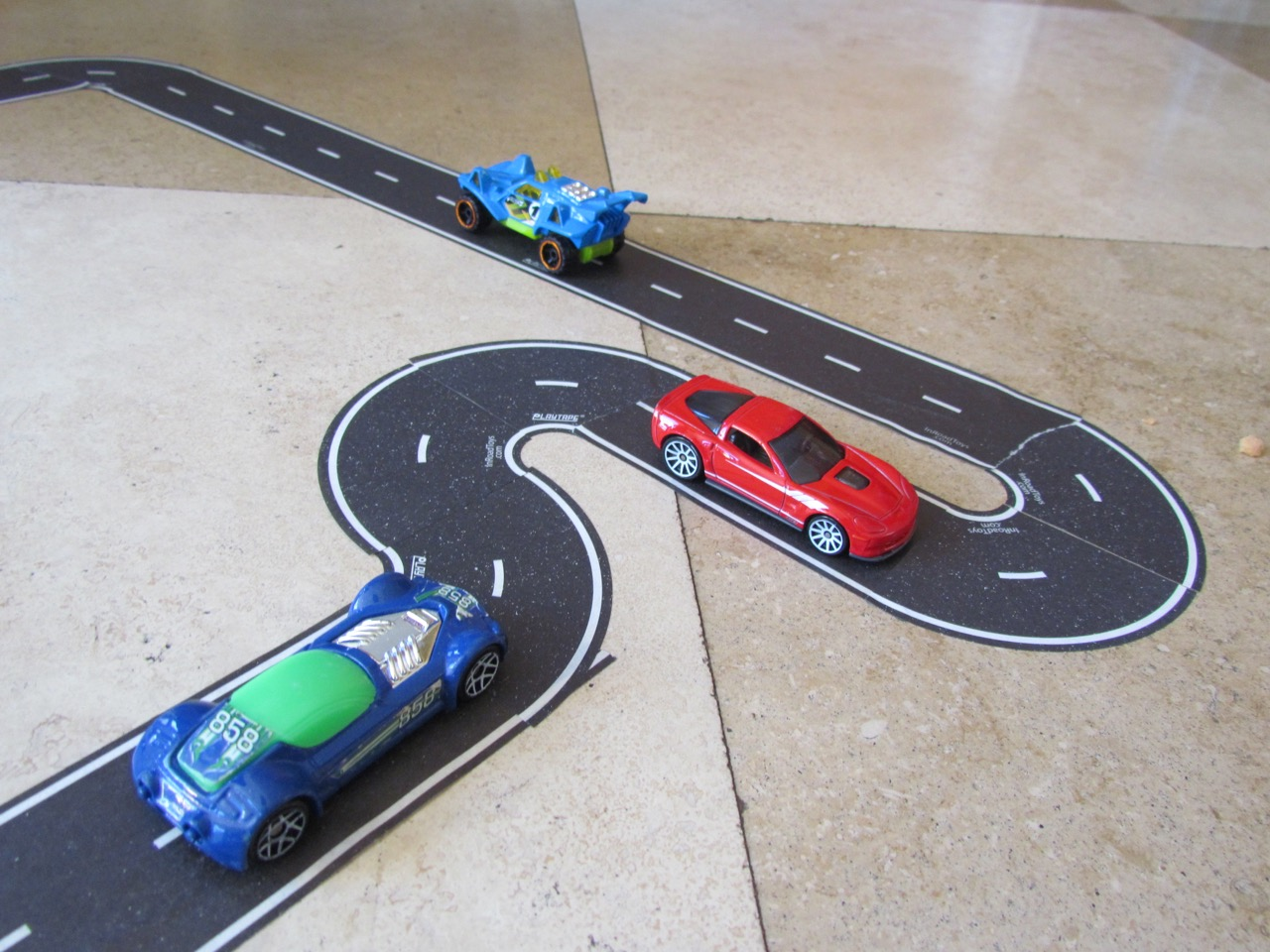PlayTape roads for Hot Wheels | Larry Edsall photo