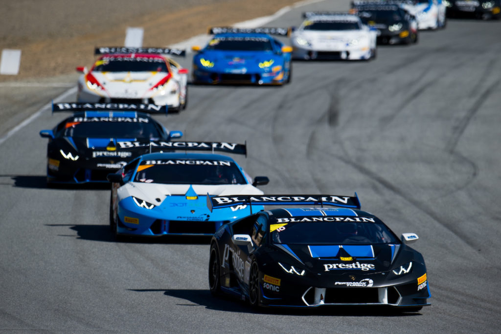 The Huracan leads the pack at Laguna Seca