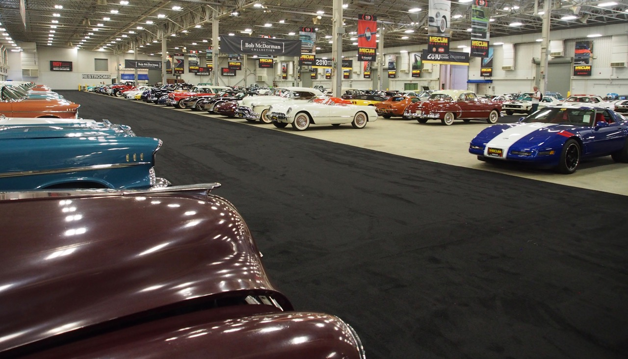 Just a few of the 1,400 or so cars available this week at Mecum's Indy auction | Rick Carey photos